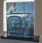 Kosta Boda Bertil Vallien -Aus dem Tempel- Unikat Glas Skulptur NEU unbenutzt