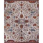 Medallion Area Rug Rectangle Floor Decor Indoor Home Room Ivory Red 8 x 10 ft