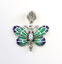 9927039 925er emaillierter Anhänger Schmetterling mit Opal
