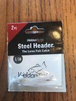 Lot Of 12 Weldon Steel Header Jigs 1//16oz CATS EYE