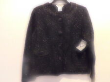 NEW MISOOK LARGE BOUNCE JACKET BLACK ARYLIC-WOOL