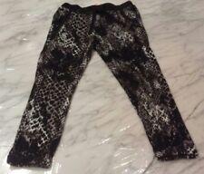 Nwt, Justice Youth Girls Size 6 Black Animal Print Jogger Pants Elastic Waist