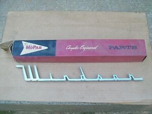 1958 58 Chrysler Windsor NOS MoPar QUARTER PANEL NAMEPLATE 1810361