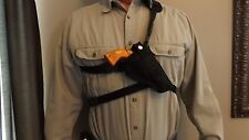 "XXL RIGHT Hand Draw Bandoleer / Shoulder CHEST Holster RUGER GP 100 w/ 3"" Barrel"