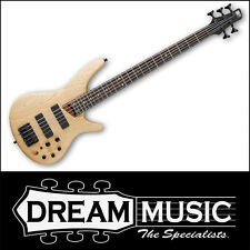 Ibanez SR605 5 String Electric Bass Guitar Natural Flat Finish RRP$1599