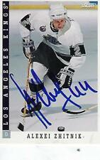 ALEXEI ZHITNIK SIGNED 1993-94 SCORE #148 - LOS ANGELES KINGS