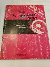 John Deere 6600 Sidehill 6600 7700 Combine Owners Operators Manual