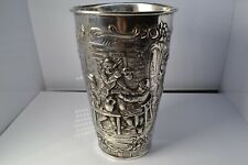ANTIQUE SILVER 800 GERMAN REPOUSSE SCENE LARGE CUP 262.5 GRAMS BY WHH