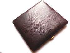 LE TANNEUR étui à cigarette peau cuir de serpent black snake skin cigarette case