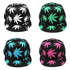 Fashion Hip-Hop Caps Marijuana Leaf Snapback Baseball Cap Adjustable Hat Unisex
