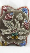 Antique Iroquois Native American Beaded Pin Cushion Provenance 'Nelly Swift'