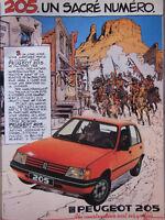 PUBLICITÉ DE PRESSE 1983 PEUGEOT 205 UN SACRÉ NUMÉRO