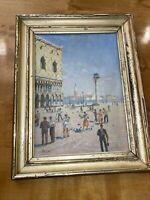 Rossi Italian  Painter 19th Century Oil On Board Painting Gold Leafed Frame.