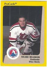 ROLAND MELANSON 1989-90 ProCards #213 Pre-Rookie NM-MT Utica New Jersey Devils