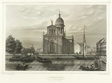 BERLIN - Sankt-Michael-Kirche - Lange - Stahlstich 1858