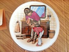 """Nib! Avon 5"""" Special Memories Plate Mother's Day 1986 """"A New Tooth"""" w Easel"""