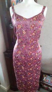 Vintage 90s Pure Silk Floral Kalico Slip Dress Blogger Grunge Cottagecore 14
