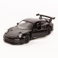 Porsche 911 GT2 RS(991) Black, Kinsmart scale 1:36, model toy car gift