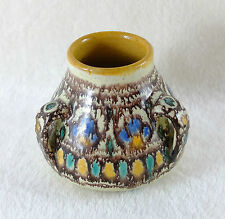 Petit vase tri-ansés en céramique NABEUL Pierre DE VERCLOS 1930's