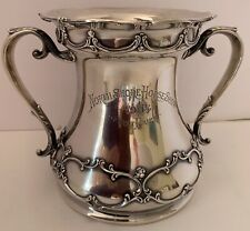 GORHAM CHANTILLY STERLING HORSE SHOW TROPHY 2 HANDLED LOVING CUP 29 OZT 1904