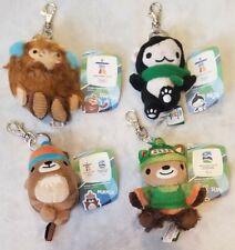Vancouver 2010 Olympics Mascots Quatchi Sumi Miga Mukmuk Keychain Set of 4 RARE!