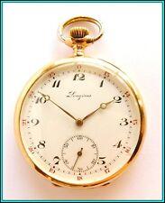 ORIGINAL Vintage LONGINES Pocket Watch 18kt Solid Gold - Cal 19.75N - WORKING