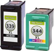 2 Tintas para hp339 + 344 OfficeJet 7210 7310 Deskjet 5740 6540 6980