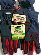 Working Hands Utility gloves with touch screen 2 pair size  Large