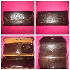 Vintage Handmade Leather Brown/Tan Unisex Wallet Clutch Pocketbook Handbag Purse