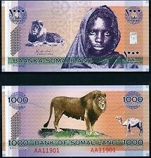 Somaliland 2006 1000 Shillings Girl & Lion AA119 Series CRISP Uncirculated