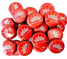 (Red) Budweiser Bottle Caps. Sanitized. Mixed Condition. Lot of 50 Beer Crowns