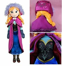 "Disney Store Frozen Anna Plush 20"" inches Soft Doll - BRAND NEW"