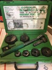 """GREENLEE 7238SB Slug Buster 1/2'' thru 2"""" Ratcheting Knockout Punch Kit #6214"""