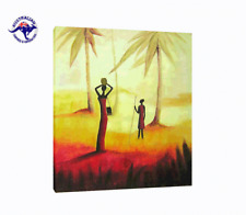 African Wall Art - Oil Painting CLEARANCE SALE - $ 1 Auction Bargain