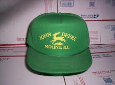 Vintage 1970s 1980s John Deere Trucker Hat Snapback Farmer Cap Moline Ill. Rare