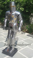 Medieval Wearable Knight Crusader Full Suit of Armor Templar With Sword Combat