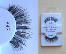 10X43 Red Cherry Lashes 100% Human Hair High Quality Eyelashes UK Stock