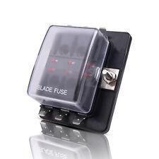 6-Way ATC/ATO Fuse Box Holder Blade 32V 100A LED Warning Kit For Car Truck