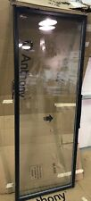 Anthony 101B 2 Pane Glass Black Commercial Display Case Refrigerator Door 26x71