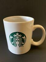 Starbucks 2011 White Ceramic Coffee Tea Cup Mug 10.8 Oz