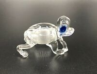 "Vintage Miniature Art Glass Frog Figurine Clear 2"""