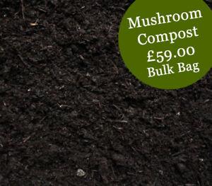 MUSHROOM COMPOST / horse / farmyard / poultry manure - Bulk Bag - £72.45