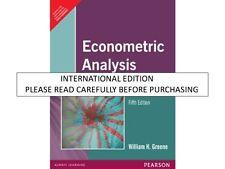 Econometric Analysis, 5th ed. by William H. Greene