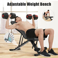 Foldable Adjustable Dumbbell Sit Up Bench Abdominal Workout Fitness Gym Exercise
