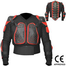 Motocross Motorbike Body Armour Motorcycle Protection Guard Jacket Black / Red L