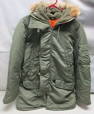 Vintage Jacket N-3B Cold Weather American Wolf Fur Hooded