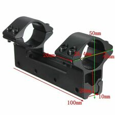 25.4 mm One Piece Double Scope Dovetail Ring 11mm Weaver Rail Pistol Airsoft