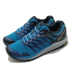 Merrell Nova 2 GTX Gore-Tex Blue Grey Men Outdoors Trail Running Shoes J035575