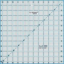 "Le Summit 12.5 Inch X 12.5 Inch Quilting Ruler Clear Acrylic Ruler 12.5""X12.5"""