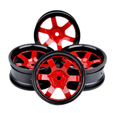 4X Wheel Rims Set For HPI HSP RC 1:10 On-Road Racing Model Car D6NKR 12mm hex
